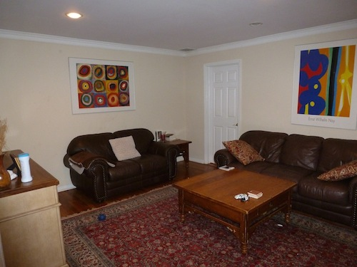 Before staging -- Living Room