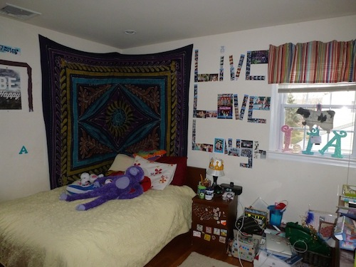 Before staging -- Teen Bedroom