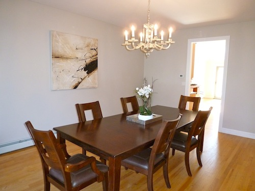 After staging -- Dining Room