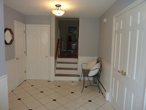 After staging -- foyer