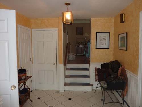 Before staging -- foyer